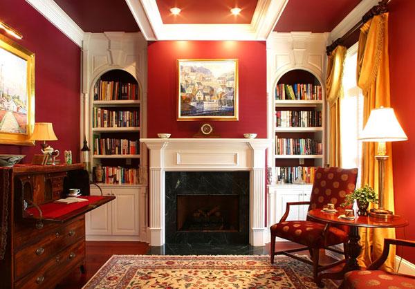 Подходящая картина для комнаты с красными стенами