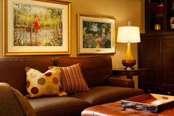 Подходящие картины для интерьера классической гостиной